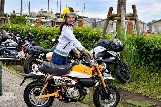 江ノ島にはバイク専用の駐輪が♪