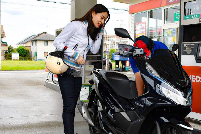 ガソリンの給油も忘れずに