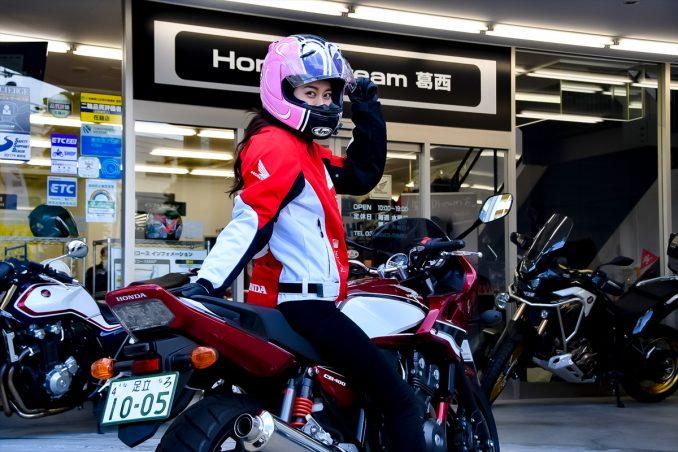 ただいま!翌朝、「Honda Dream 葛西」へバイクを返却です。